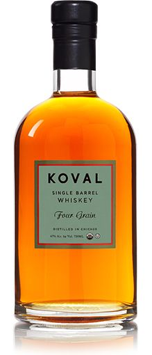 Single Barrel Four Grain Whiskey, Koval, Chicago. My absolute favorite. Ever.