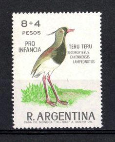 """Sello Postal """"Pro Infancia"""" - Teru Teru - 1966 - Dibujante A. Boero.   -(lbk)"""