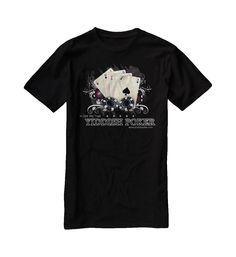 """"""" In Gelt We Trust """" Le premier modèle poker de la collection Classic de YIDDISH FASHION.    Le Tee-shirt col rond avec un imprimé plein face, manche courte, 100% Coton, couleur noir"""