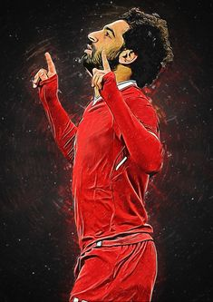 Muhammed Salah Art Print by CloudLifeStudio - X-Small Football Player Drawing, Soccer Players, Soccer Cleats, Mohamed Salah Liverpool, Muhammed Salah, Liverpool Wallpapers, Egyptian Kings, Mo Salah, Soccer Memes