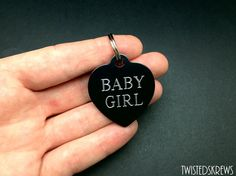 BDSM COLLAR TAG custom engraving on both sides christmas gifts dom sub little kitten daddy submissive slave circle heart ddlg kittenplay
