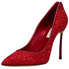 Casadei Blade Glitter Pump (€620) ❤ liked on Polyvore featuring shoes, pumps, red, leather shoes, casadei shoes, red leather shoes, leather pumps and leather sole shoes