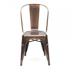 Xavier Pauchard Vintage Copper Side Chair