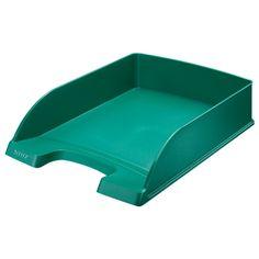 Leitz 5227 brievenbak groen metallic (5 stuks)  |  De groen metallic gekleurde Leitz brievenbakken zijn gemaakt van stevig polystyreen. Deze brievenbakken kunnen zowel los als stapelbaar gebruikt worden en zijn ideaal om A4 documenten in op te bergen.