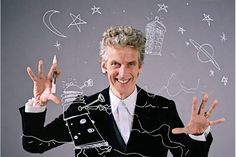 It makes perfect sense that he would do this because he himself is such a huge fan. This is SO MUCH FUN for him. Capaldi is such a glorious geek about it.  It's lovely.  Having a fan of the show as the Doctor works. He knows the show inside and out, takes it seriously and will do whatever he can for it. He is so caring and passionate of the fans and his role. Capaldi becomes The Doctor outside the episodes as well. It's just brilliant and rather epic.