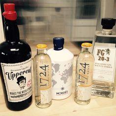 Uppercut gin, Nordes gin, FG 20-3 gin & 1724 tonic