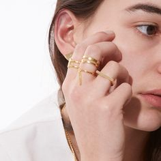 Rings form the biggest part of our jewellery selection at Goodhood. They often hold the most personal value of all jewellery styles. Layered on single fingers and multiples across the whole hand,our ring selection offers both complimentary pieces and stand alone gems. Fashion Jewelry, Women Jewelry, Boy Scouts, Dandy, Silver Jewelry, Gems, Fingers, Earrings, Jewellery