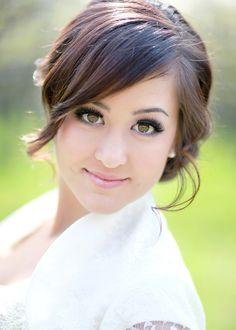 Stunning Sideswept Bangs | Feminine Bridal Hair