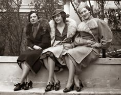 1933 models showcased footwear at the Shoe Fashion Show at Hotel Astor in New York