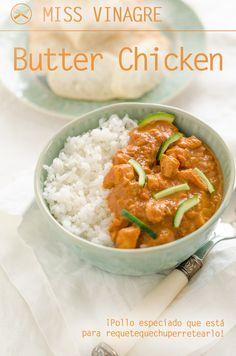 El clásico butter chicken ha llegado para quedarse en tu menu semanal, fácil de hacer, congelar y con un sabor delicioso, ¡la resistencia es inútil!