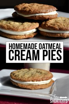 The best oatmeal cream pies do not come out of a box and wrapper. You have to try this Homemade Oatmeal Cream Pie Recipe! YUM!