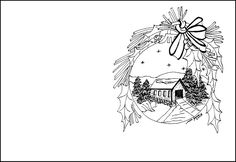 46 Best Christmas Cards To Color Images Coloring Pages Coloring