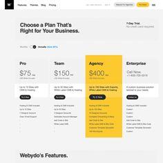 Most Stunning Pricing Pages You've Ever Seen - Prototypr Landing Page Inspiration, Website Design Inspiration, Website Layout, Web Layout, Price Page, Price List, 400 M, Desktop Design, Web Design Packages