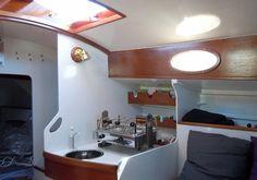 Boat Interior, Interior Design, Boat Stuff, Track Lighting, Ceiling Lights, Sailboats, Yachts, Insulation, Home Decor