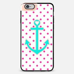 Pink Polkadot Summer Love Anchor iPhone 6 Plus Metaluxe case by Organic Saturation | Casetify Get $10 off using code: 53ZPEA