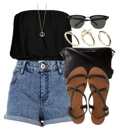 Style #3797 by vany-alvarado on Polyvore featuring polyvore fashion style Topshop River Island Joie A La Plage Marc by Marc Jacobs DesignSix Minor Obsessions Ray-Ban clothing