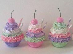 Pastel Fake Cupcakes Photo Props Birthday by FakeCupcakeCreations