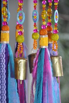 Colorful Sun Catcher Beaded Mobile With Brass #glassbeadstrands #ceilinghanging #bellsdecor #bellwindchimes #windchimes #uniquewindchimes #beadedsuncatcher #glassbeadchimes #glasssuncatchers #glasswindchimes #turquoisemobile #colorfullsuncatcher #colorfulwindchimes Crystal Beads, Glass Beads, Ceiling Hanging, Hanging Mobile, Beaded Curtains, Sun Catcher, Bohemian Decor, Christmas Tree Ornaments, House Colors