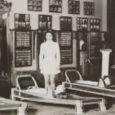 Old reformer beds that were the original foundation of modern pilates reformers.  They were modeled on hospital beds that had been modified with springs to help strengthen the sick by Joseph Pilates - how far they've come ... #health  #pilates  #pilateslovers  #performance  #painfree  #posture  #physiotherapy  #corestrength  #corework  #balance  #wa  #perthlife  #corefusionpilateswa  #rehabilitation  #thecoreexperts  #perthlife  #reformer