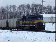 DM&E Local B66 and WSOR T4 in Janesville 2/4/2010 - YouTube