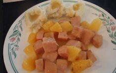 Cubes, Fruit Salad, Cantaloupe, Food, Pineapple Juice, Mustard, Juice Cup, Ham, Meal