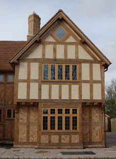 Here are just a few external pictures from the Border Oak Open House day we held last Saturday. Border Oak, Oak Frame House, Brick Paneling, Little Acorns, Oak Panels, Open House, Porch, Cabin, House Styles
