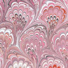 pink marbled paper- handmade