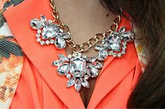 The precious jewels of Monday #fashion #jewellery #Statementjewellery #necklace