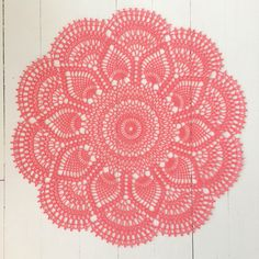 Published in Doilies, Doilies, Doilies, Star Doily Book No. by American Thread Company inPink Pineapple Doily - free archived crochet pattern by American Thread Company.Craft Passions: Pink Pineapple Doily link hereYou guys are in need of some serious doi Free Crochet Doily Patterns, Crochet Motifs, Thread Crochet, Free Pattern, Crochet Borders, Tatting Patterns, Crochet Squares, Stitch Patterns, Filet Crochet