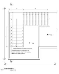 DETALHAMENTO DE ESCADA - Desenho Arquitetônico II (3° período)