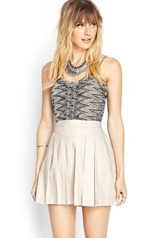 Pleated Woven Miniskirt | FOREVER21 #F21Contemporary #SummerForever