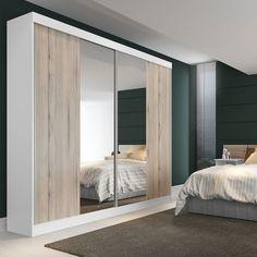 Olha só este #guardaroupa perfeito para a #decoração. Além da porta de correr ocupar menos espaço e o espelho dá a sensação de amplitude!  #Prod119261