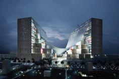 Giant Tensile Canopy Architecture via @fubiz