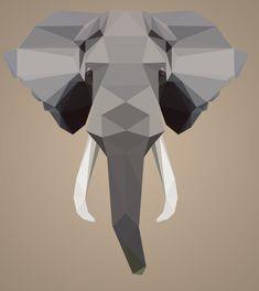 Geometric Elephant's Head  [Photoshop]