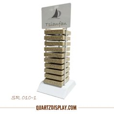 Countertop Stone Display Stand  for 100 x 100 x 20 mm Stone Samples. Any interested, please contact Amber , amber@tsianfan.com    ( www.quartzdisplay.com )