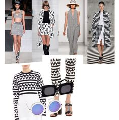 Ready to get hypnotized? Buy into the graphic patterns of this spring and get a free trance session. Unlike last years' pattern frenzy the 2014 offering doesn´t even need any color, just plain black and white. For Edun this means a relaxed silhouette that´s spiced up with razor-sharp geometric patterns in black and white. Did you know this New York based label focuses on sustainability and has shifted its sourcing and production to Africa? Nice plus, I´d say. If patternism from head to toe…