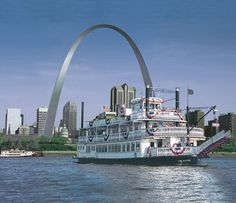 "Tom Sawyer  steamboat - you can take a river cruise down the Mississippi from downtown St. Louis.  Dinner cruises and Sunday brunch cruises are available.  The St. Louis Mayor and County Executive used to have a ""steamboat"" race each year: one would ""pilot"" the Tom Sawyer and the other would ""pilot"" the Becky Thatcher."