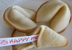 Homemade fortune cookies for Chinese New Years