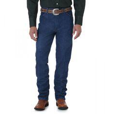 cff4ed69 0936PWD Wrangler Men's Cowboy Cut Slim Fit Jean - Prewashed Indigo Mens  Western Jeans, Western