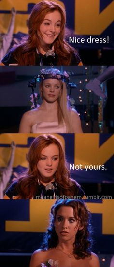 Nice dress! Not yours. #hungergames #meangirls