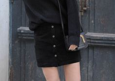 casual black, button-down-skirt, mango, american apparel, chucks, look, ootd, riga, fashion, blog, stryletz