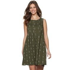 9fceeb57070 Women s SONOMA Goods for Life Pintuck Challis Dress