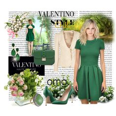 """""""Green Valentino - Spring Fashion 2013"""" by mary-gereis on Polyvore"""