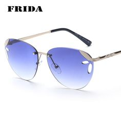 ★★★★★ FRIDA 2016 Fashion #women Rimless sunglasses Brand Designer #Exclusive #DIY #Sale #Hot #Summer #Cool #2016 #Vintage #Luxury #Sunglasses