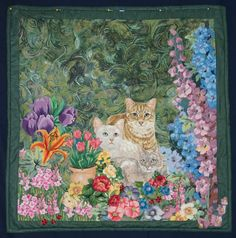 """Garden Visitors"" by Carol Sansone. 2010 Quilt Show, Cotton Patch Quilters"