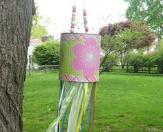 Recycled Craft: Tin Can Windsock