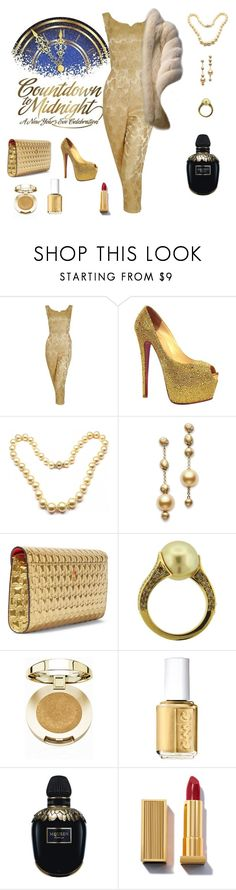"""""""Favorite New Year's Fashion Sets"""" by kmaryk ❤ liked on Polyvore featuring Disney, Christian Louboutin, Mikimoto, Milani, Essie, Alexander McQueen and AmiciMei"""