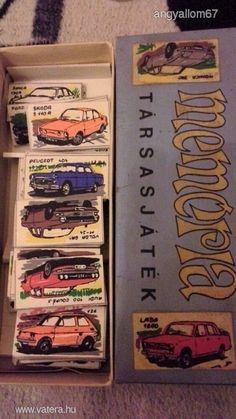autóskártya memória társasjáték