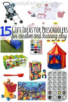 15 Gift Ideas for Preschoolers. Perfect toys for boys or girls. We LOVE these toys. My daughter plays with them for hours at a time. Need to check these ideas out for birthdays and Christmas gifts!