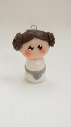 Princess Leia Polymer Clay Charm Necklace Geekery by GabiAndAsia, €8.00